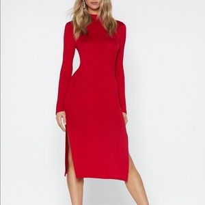 NWOT Nasty Gal Number One Hit Bodycon Dress